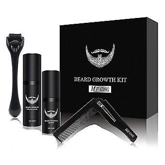 Kit de croissance de barbe d'hommes réglé avec le peigne