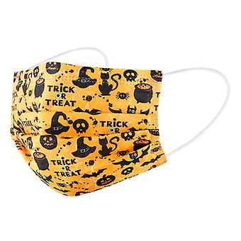Yesfit フェイス マスク 大人 の ハロウィン 印刷使い捨てマスク 10pcs ハロウィン コスプレ マスク