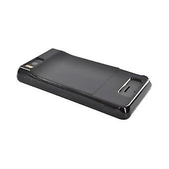 Verizon Motorola Droid X (musta) MOTDRDXSILHGBK Silikonisuoja