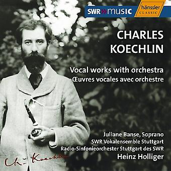 C. Koechlin - Koechlin: Vocal Works with Orchestra [CD] USA import