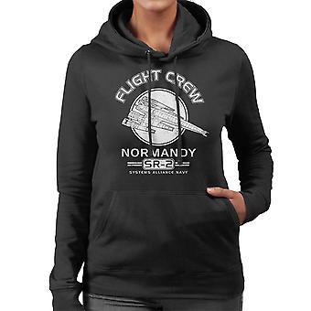 Normandië Flight Crew Mass Effect vrouwen Hooded Sweatshirt