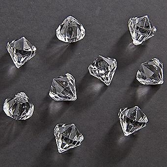 Enfeites de mesa mesa diamante 12 x 12 mm confetti do diamante