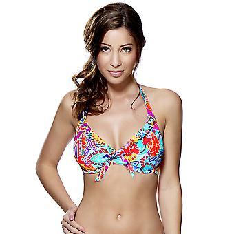 Audelle Fiesta Çok Renkli Baskı halterneck Bikini Top 147462