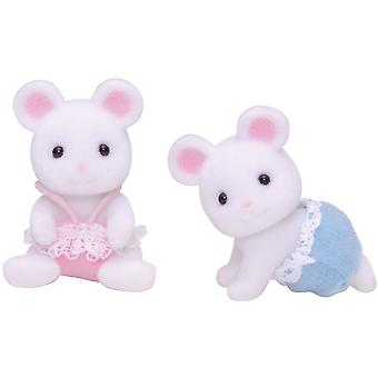Sylvanian Families witte muis Twins wit