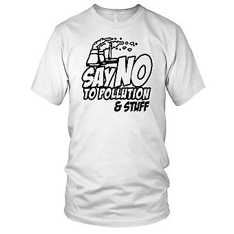 Say No To Pollution And Stuff Kids T Shirt