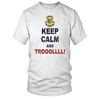 Mantenere la calma e Troll Troll Hunter Mens T-Shirt