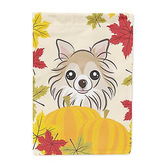 Carolines Schätze BB2057GF Chihuahua Thanksgiving Flagge Garten Größe