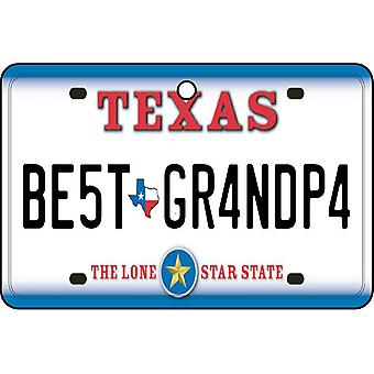 Texas - Best Grandpa License Plate Car Air Freshener