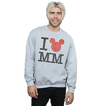 Disney Men's Mickey Mouse I Love Mickey Sweatshirt