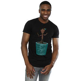Marvel Men's Guardians Of The Galaxy Baby Groot Flower Pot T-Shirt