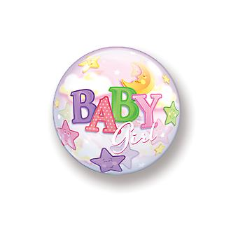 Ballon bubble ball bébé fille naissance rose ballon de filles pastel Moon Star environ 55 cm