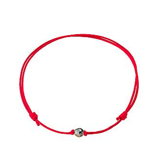 Tahitipearl necklace and Red Wax cotton 5483