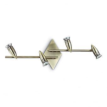 理想的な Lux アルファ伝統的なデザイン 2 アーム壁とシーリング スポット ライト 4