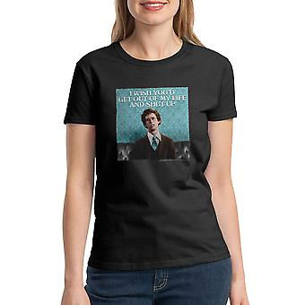 Napoleon Dynamite Get Out Of My Life Women's Black Funny T-shirt