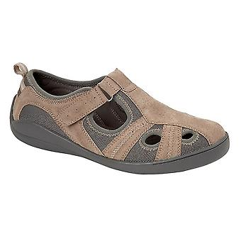 Boulevard Womens/Ladies Leather/Textile Casual Shoe