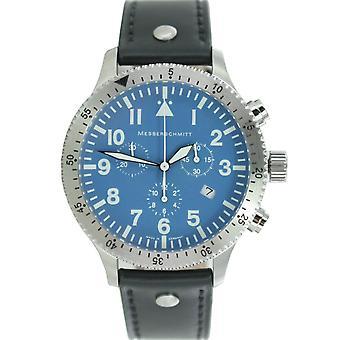 Aristo Messerschmitt men's watch chronograph Aviator watch ME-5030 blue