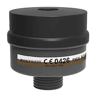 Portwest - A2P3 Combo Filter Universal Thread (Pack of 4)