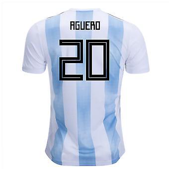 2018-19 Arjantin Ev Forması (Aguero 20)