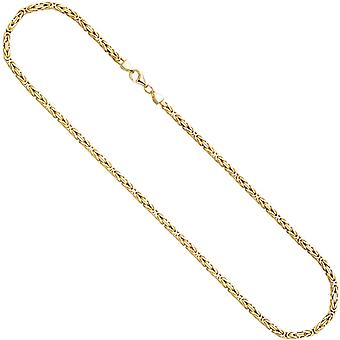 King chain 925 sterling silver gold gold plated 3.2 mm 45 cm chain necklace