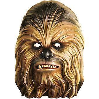 Chewbacca Star Wars Maske aus Pappe