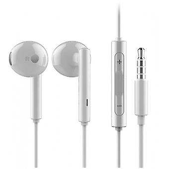 Huawei bolha Am115 fone de ouvido fone de ouvido com controle remoto, microfone branco para Smartphone