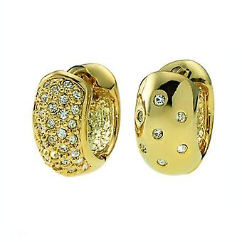 Oliver Weber Post Earring Double Gold Crystal