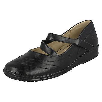 Ladies Eaze Flat Strap Shoes