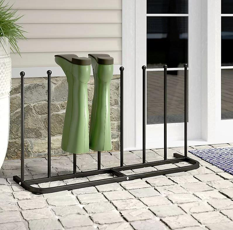 4 Pair Black Boot Shoe Welly Stand Storage Organizer