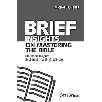 Breve Insights sobre a Bíblia de masterização: 80 Insights perito, explicado em um único minuto (60 segundos estudioso série)