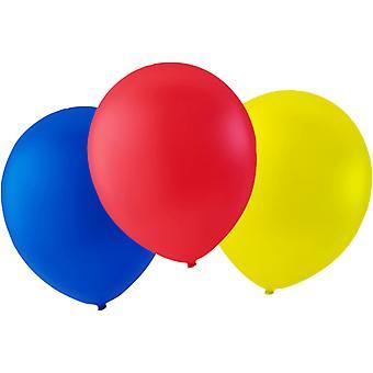 "Ballons 24-pack bleu, rouge et jaune-30 cm (12 "")"