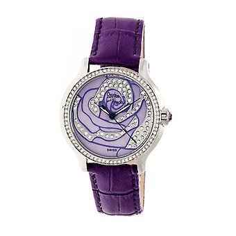 Sophie & Freda Monaco MOP Swiss Ladies Watch - Silver/Purple