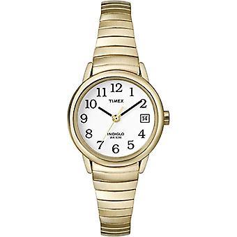 Timex Damen T2H351 Classic Edelstahl analoge Armbanduhren, gold