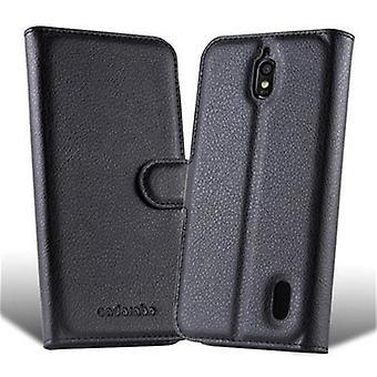 Cadorabo Case pour Huawei ASCEND Y625 dans PHANTOM BLACK - Étui téléphonique avec fermoir magnétique, fonction de stand et compartiment de carte - Case Cover.