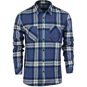 QUIKSILVER Mens camicia di flanella manica lunga Fitzthrower - Saphire Blue