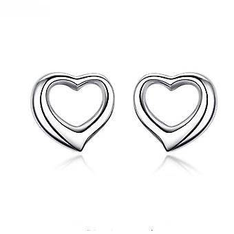 925 Sterling Zilver solide Open Heart Stud Earrings Stud Earrings