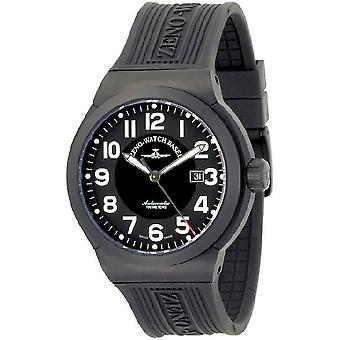 Zeno-watch reloj titanio RAID negro automático 6454-bk-a1