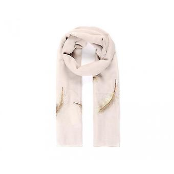 Intrigue Womens/Ladies Feather Embroidered Scarf