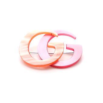 Gucci Orange Metal Pin