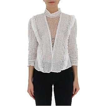 Isabel Marant Ht1315029i20wh Women's White Cotton Blouse