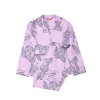 Minijammies 5485 Mädchen Laura rosa Mix Leopard Print Baumwolle Pyjama Set
