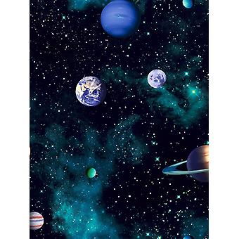 Cosmos Space Wallpaper Charcoal Arthouse 668100