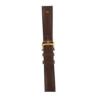 Maurice Lacroix | 20mm bruin lederen band Rose goud | Geen gesp ML740-005012 horloge