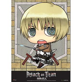 Fabric Poster - Attack on Titan - New SD Armin Wall Scroll Anime New ge79081