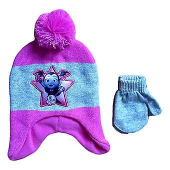 Laplander Beanie Cap Disney Vampirina Girls w/Mittens Set Hat 358935