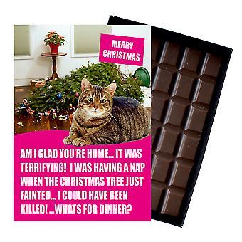 Tabby Katze Weihnachtsgeschenke lustige Weihnachtsgeschenke für Katzenliebhaber Boxed Schokolade Grußkarte