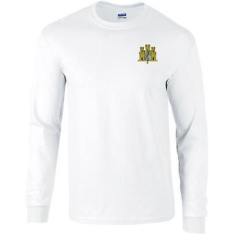 første East Anglian regiment-lisensiert britiske hæren brodert langermet T-skjorte