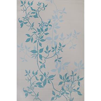 Pierre Cardin design matta i akryl Grädde/Blå