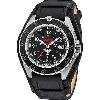KHS - ساعة اليد - الرجال - المنفذ الصلب CR مع حزام جلدي G-Pad-KHS. ENFSCR. R