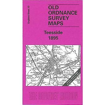 Teesside (Old O.S. Maps of England) [Facsimile] [Folded Map]