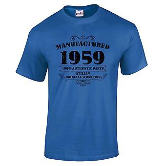 Mannen ' s 60ste verjaardag T-shirt vervaardigd 1959 nieuwigheid giften voor hem